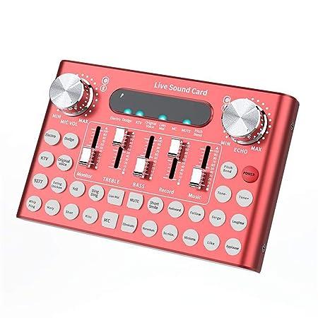 QLPP Tarjeta de Sonido Profesional Micrófono Voz Música ...