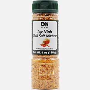 Dh Foods Chili Salt | Vietnamese dipping seasoning | For fruits and vegetables | NO Synthetic Color - NO Artificial Preservative | 4 oz Net Wt.