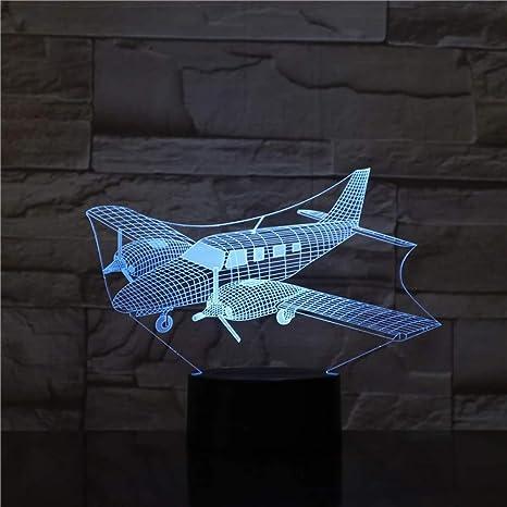 Lámpara de la mesita de noche de la ilusión de wangZJ 3d ...