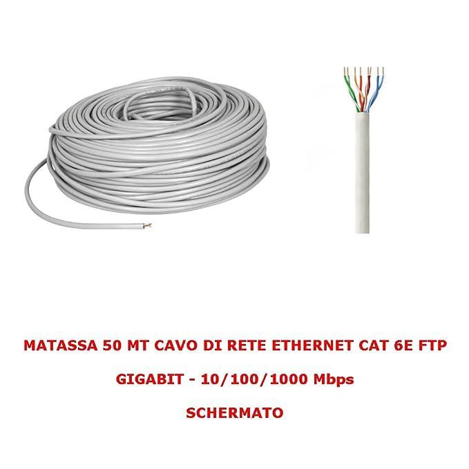 NORMSTAHL Cable de red FTP CAT 6 LAN Ethernet M Bobina Internet ...