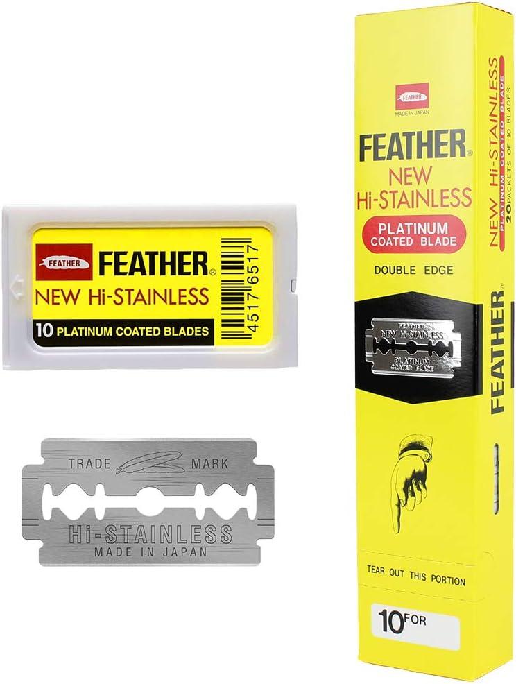 Feather Hojillas de Afeitar Doble Filo - 200 Unidades