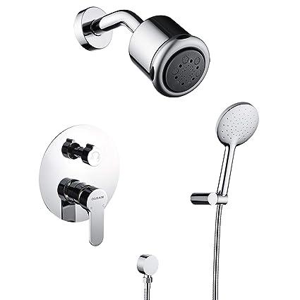 Amazon.com: OLEAH - Juego de grifos de ducha de pared de ...