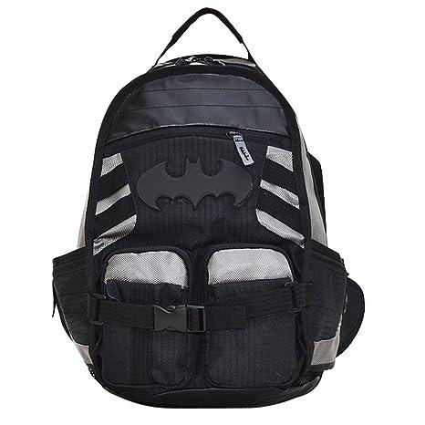DeLamode Deadpool Marvel Batman Logo Shoulder Backpacks Student Bags  Batman  Amazon.in  Bags 26172f54a7a73