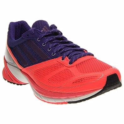 Adidas adiZero Tempo 6 Women's Shoes (9.5, Red Zest/Blast Purple Metallic/