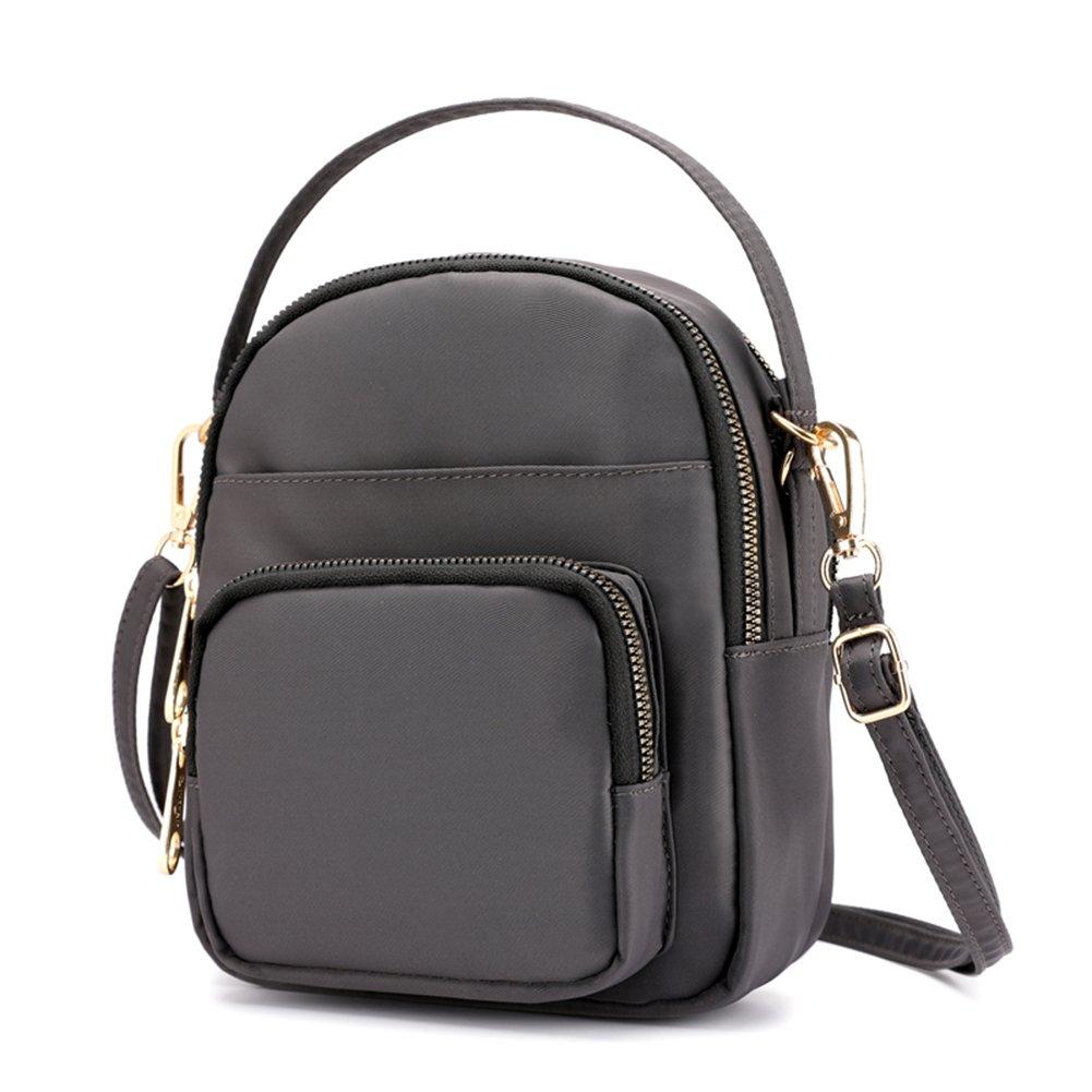 Collsants Mini Crossbody Purse Small Nylon Travel Shoulder Bag Cellphone Wallet (Grey)
