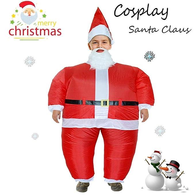 Bescita - Disfraz Hinchable de Papá Noel Claus para Disfraz ...