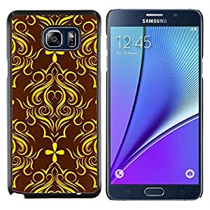 Jordan Colourful Shop - Golden Brown Floral Pattern For Samsung Note 5 N9200 N920 Personalizado negro cubierta de la caja de pl????stico