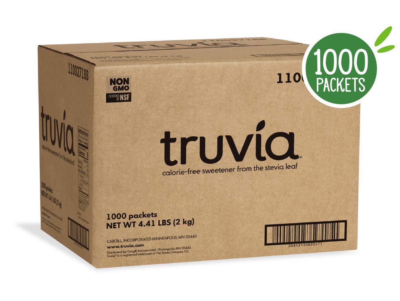 Truvia Natural Stevia Sweetener Packets, 1,000-Count Box (Net Wt. 70.5 oz) by TRUVÍA