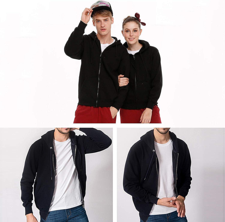 Hipster Style Hoodie Full Zip Hoodies for Men Lightweight Fleece Sweatshirt Pullover Graphic Jacket
