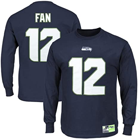 Seattle Seahawks 12th Fan Eligible Receiver Long Sleeve Jersey Name and Number  T-shirt Small f9e6bf3e3