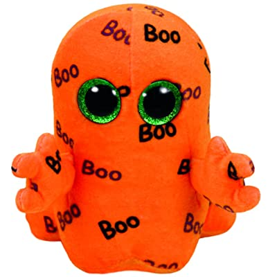 TY Beanie Boo Plush - Ghoulie The Ghost 15cm: Toys & Games