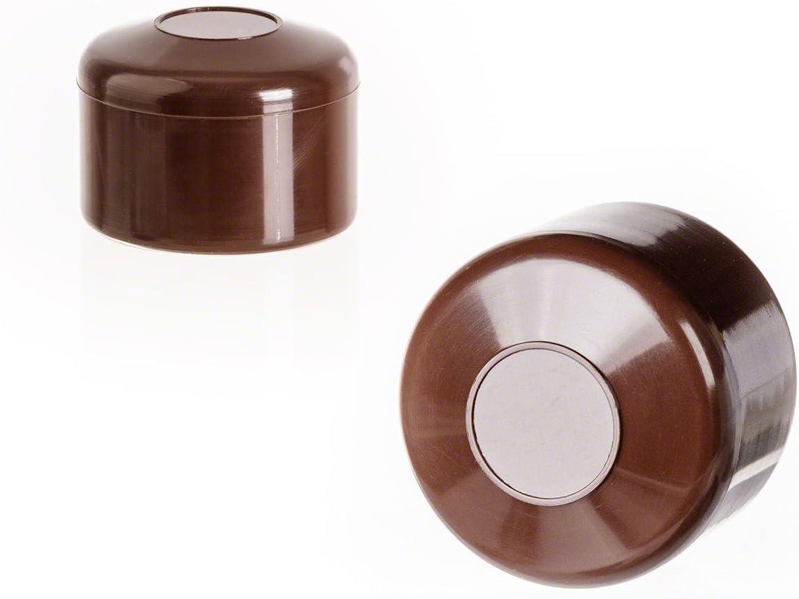 10 St/ück Kunststoff Pfostenkappen Abdeckkappen Zaunpfahlkappe rund 40 mm Grau