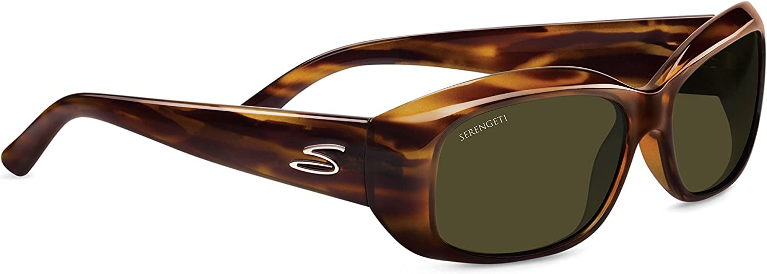 Serengeti Eyewear Bianca Gafas, Unisex Adulto, marrón (Brown/Green Dark Stripe Tortoise), M