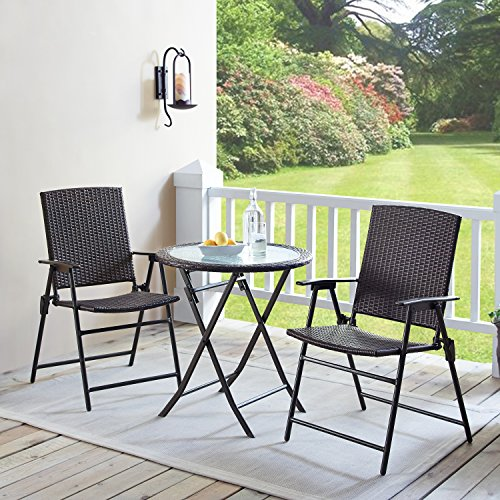 garden folding chairs wicker resin chair