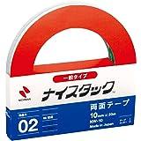 ニチバン 両面テープ ナイスタック 一般タイプ 10mm×20m NW-10
