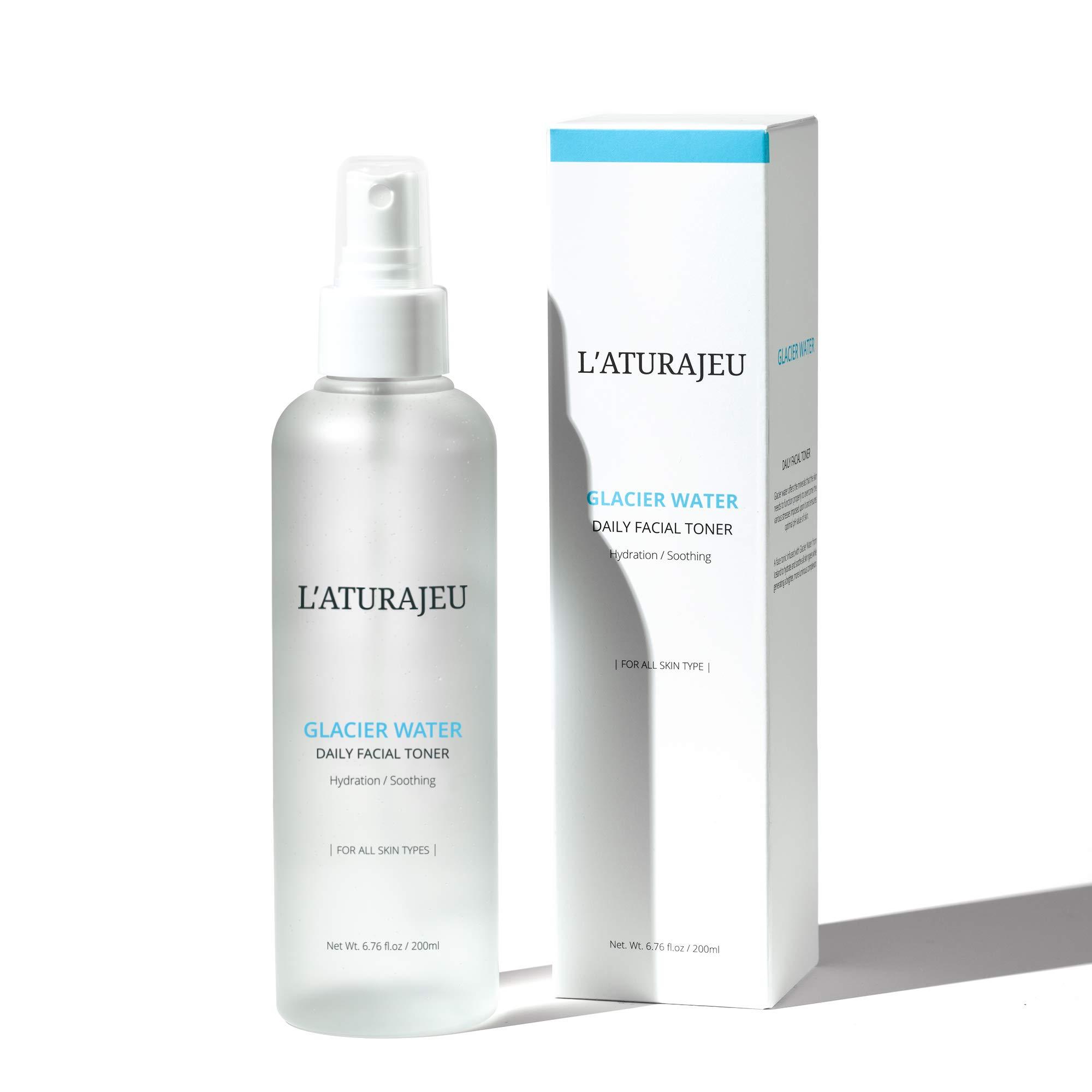 L'ATURAJEU 10-Free Korean Facial Toner Spray with Glacier Water (No Scent), for All Skin Types (6.76 fl.oz) by L'ATURAJEU