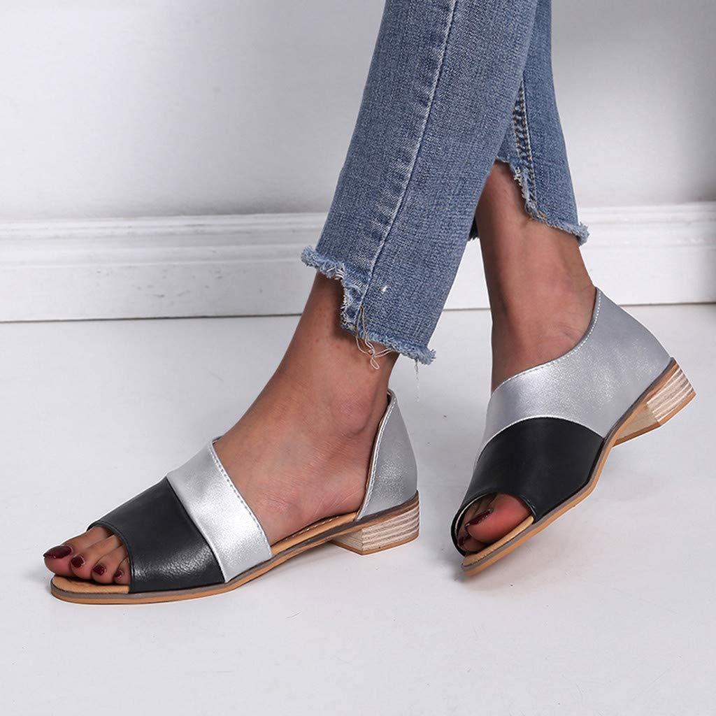 Women Sndals,Fashion Peep Toe Mixed