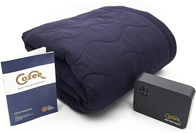The Cozee - Battery Operated Heated Blanket, Heats in 30-45 min, 2 Hours on High, 5 Hours on Low
