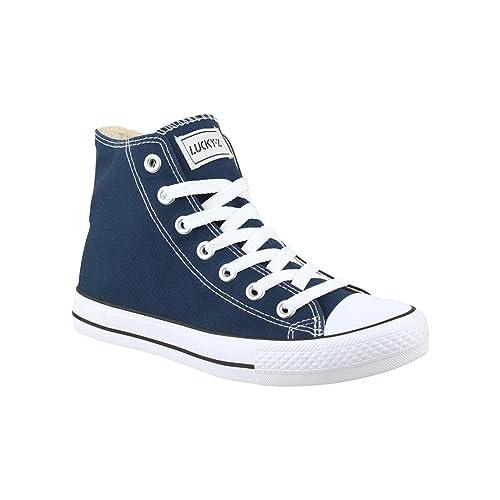 Elara Zapatillas Altas Mujer, Color Azul, Talla 37 EU: Amazon.es: Zapatos y complementos