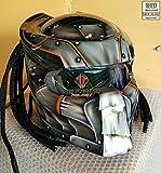 Pro Predator Motorcycle Helmet Dot Approved SY30 Ultra silver style (XXL)
