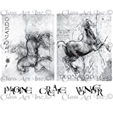 Class Act Chapel Road Cling Mounted Rubber Stamp Set, 5.75 by 6.75-Inch, Da Vinci Horses by Class Act