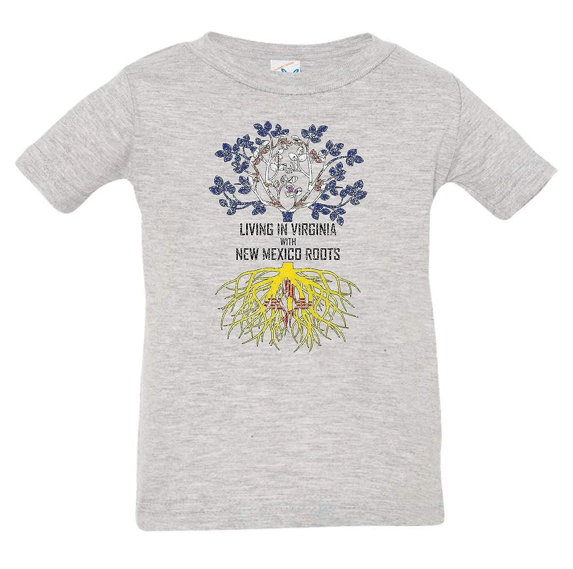 Tenacitee Babys Living in Virginia Mexico Roots Shirt