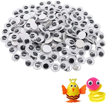 DECORA 6mm Round Wiggly Toy Eye with Self-adhesive 1000 Pieces