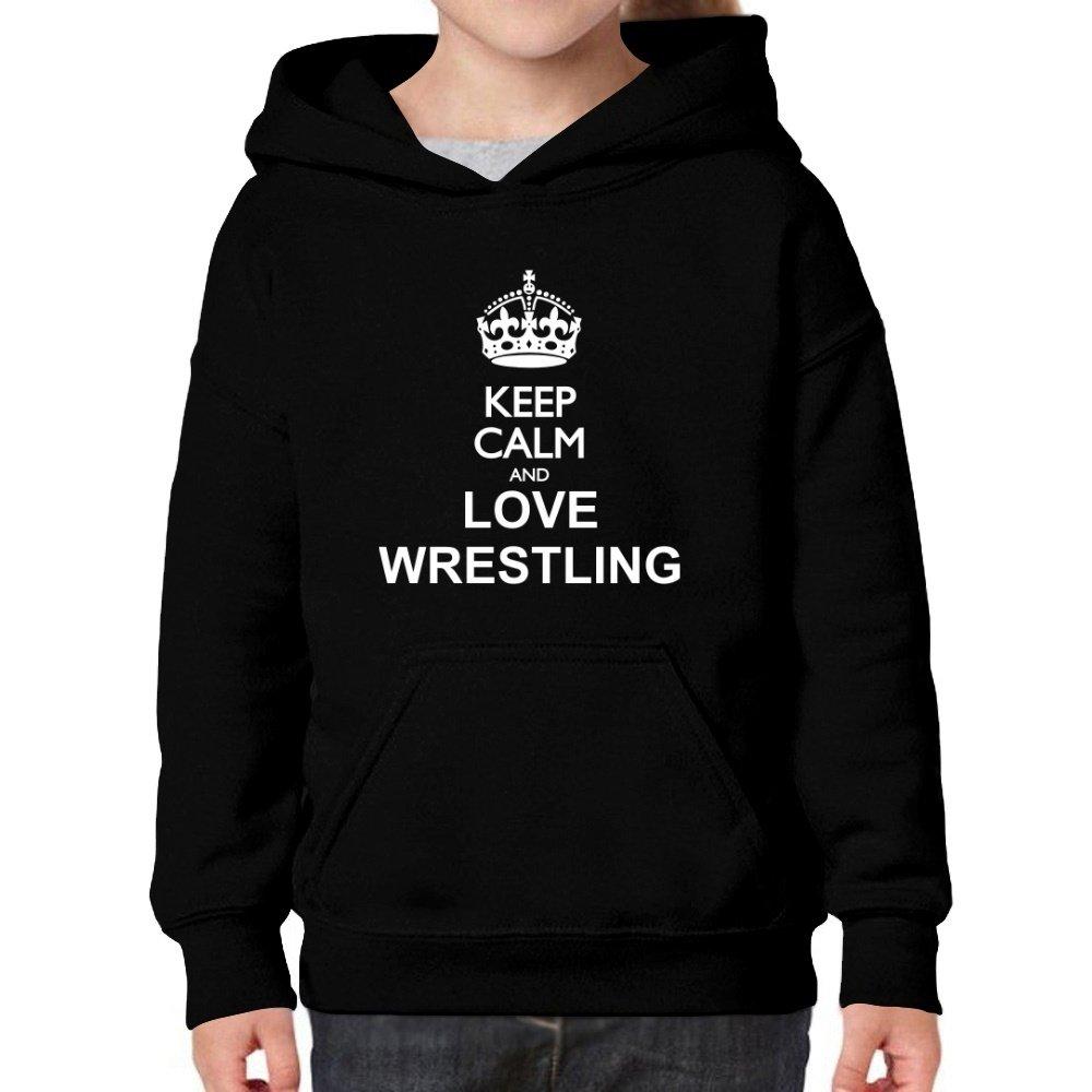 Teeburon Keep Calm and Love Wrestling Girl Hoodie