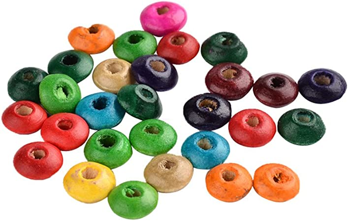 200PCS Round Dyed Wood Beads For DIY Making Bracelet Necklace Jewelry Craft