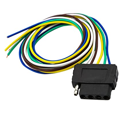 Amazon.com: Jili Online 5 Pin Trailer Flat Plug 960mm Wiring Harness on 5 pin neutral safety switch, 5 pin trailer cable, 5 pin flasher, 5 pin horn, 5 pin voltage regulator, 5 pin trailer wiring, 5 wire trailer plug wiring harness, 5 pin relay harness,