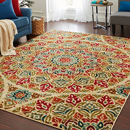 Mohawk Home Strata Jerada Floral Sphere Printed Area Rug, 5'x8', Multicolor by Mohawk Home (Image #4)