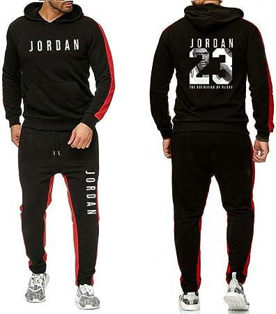 Uomini Casual Jogging Tuta Completa Felpa con cappuccio Con cappuccio Cerniera sweatsuit Vestito Outwear