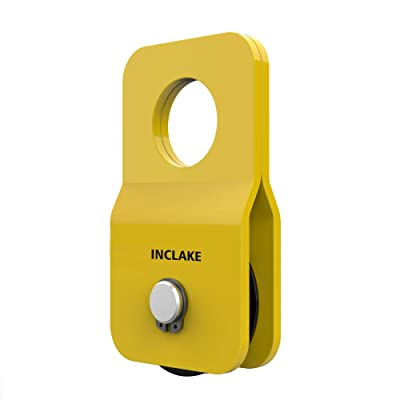 INCLAKE Snatch Block (Max 4.8 Ton 10,500LBS) Winch Pulley Block 10,500lbs Capacity, Rope Diameter Up to 10mm 0.4 Inch for UTV ATV Recovery or Industrial Use: Automotive