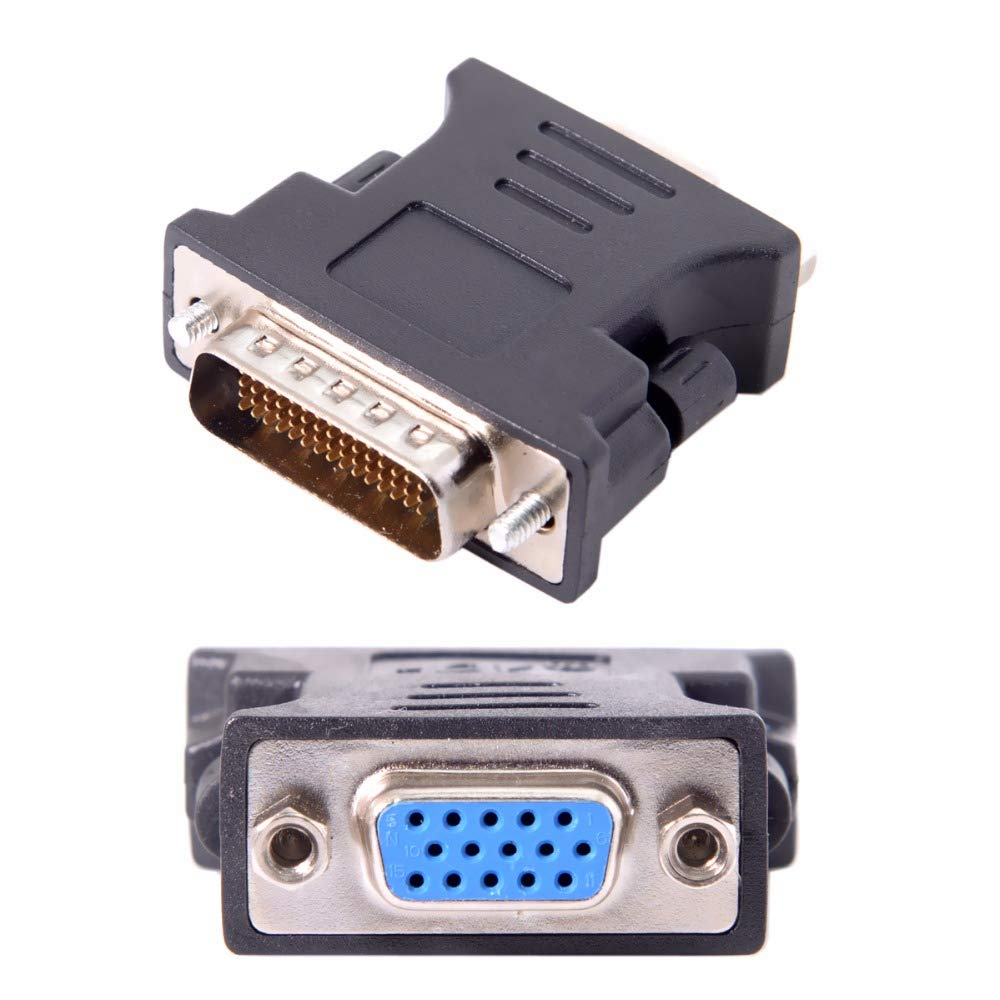 Iycorish Adaptateur Dextension DMS-59 Broches Male /à 15 Broches pour Carte Femelle PC VGA RGB