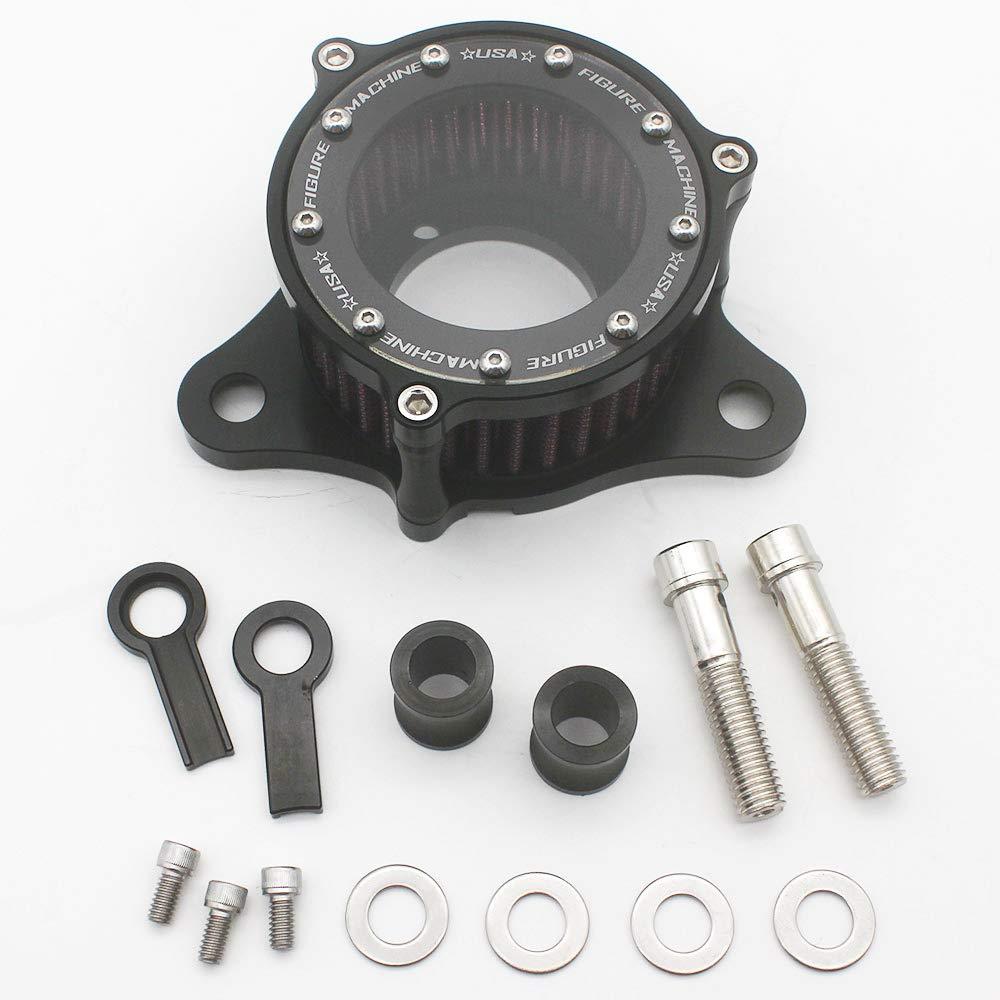 KIPA Air Cleaner Intake Filter System Kit For Harley Davidson Sportster XL883 XL883N XL883R XL883P XL1200 XL1200L XL1200X Iron 883 Forty Eight XL1200X 2004-2016 Billet Aluminum CNC Machined Washable by KIPA (Image #2)