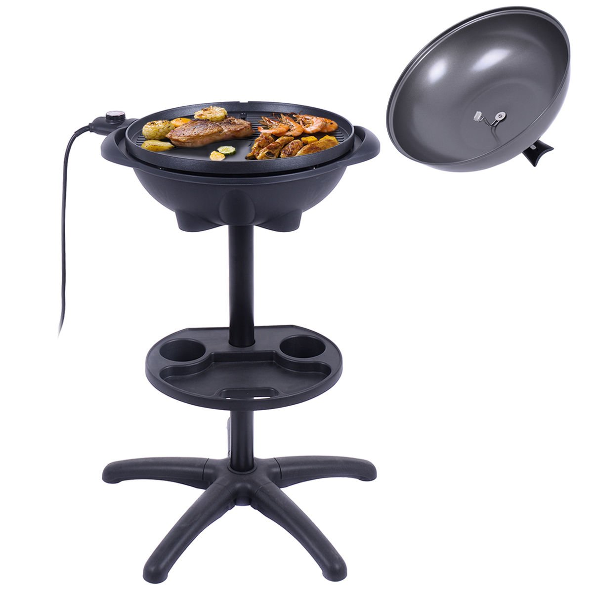New Electric BBQ Grill 1350W Non-stick 4 Temperature Setting Outdoor Garden Camping by totoshop (Image #9)