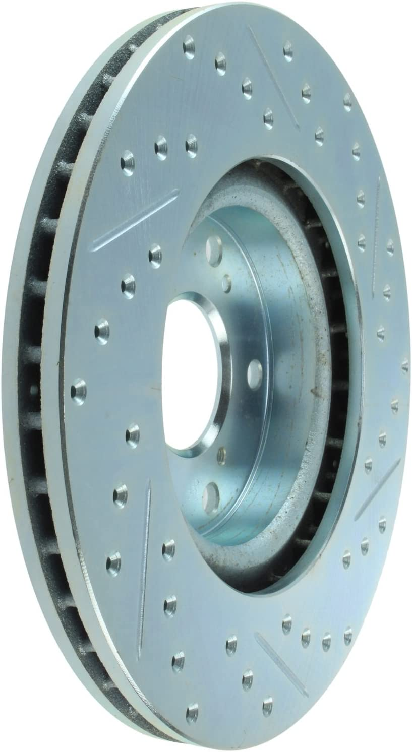StopTech 227.40057R Select Sport Drilled and Slotted Brake Rotor; Front Right