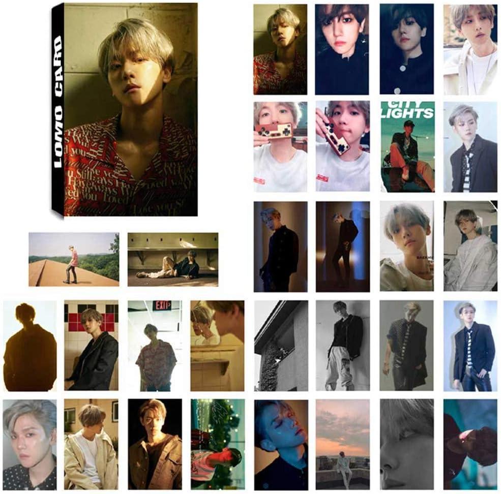 GOTH Perhk KPOP EXO Fotokarten-Poster Lomo Cards Selbstgemachtes Papier HD Fotocard//Kristallkarte Aufkleber f/ür EXO Fans