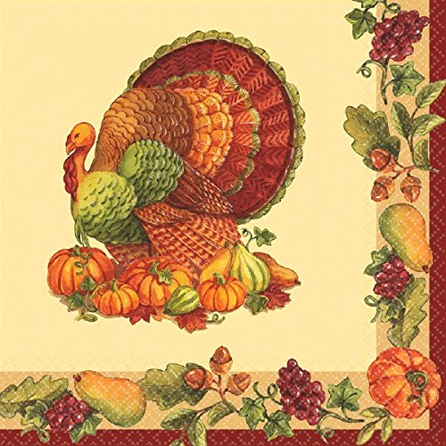 Joyful Thanksgiving Multicolored Paper Luncheon Napkins, 125 Ct. | Party Tableware by amscan