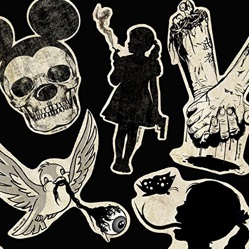 Set of 15 vinyl stickers,skulls stickers,waterproof sticker,gothic  stickers,art stickers,horror stickers,,zombies stickers,