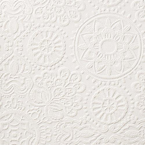 ルノン 壁紙45m ホワイト RF-3598 B06XZN6BFT 45m|ホワイト