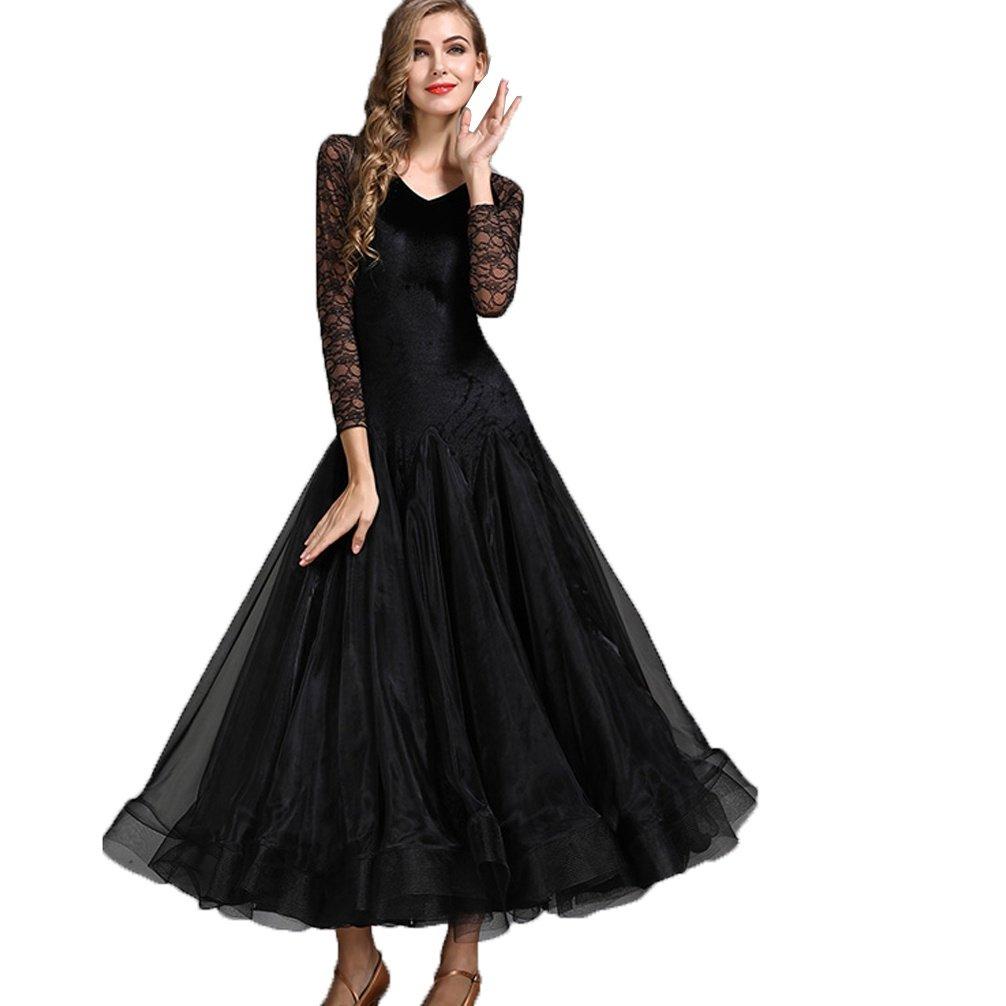 MoLiYanZi Modernes Tanzkleid Für Frauen Walzer Tanz Wettbewerb Kleider Rückenfrei Schnüren Nähen EIS Seide B07BNSXJGJ Bekleidung Angenehmes Aussehen