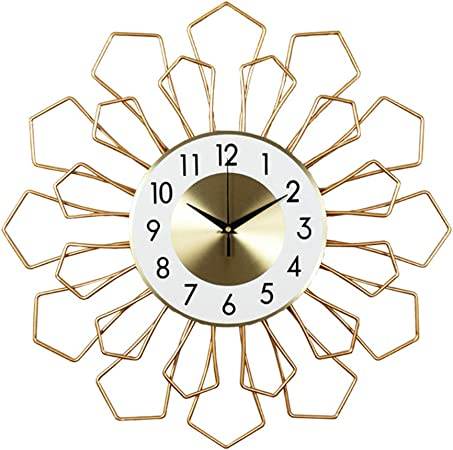 ZhaoMM - Reloj de pared de hierro forjado, creatividad, personalidad, moda de precisión, durabilidad, gran hogar, escalera de baño, decoración de oficina: Amazon.es: Hogar
