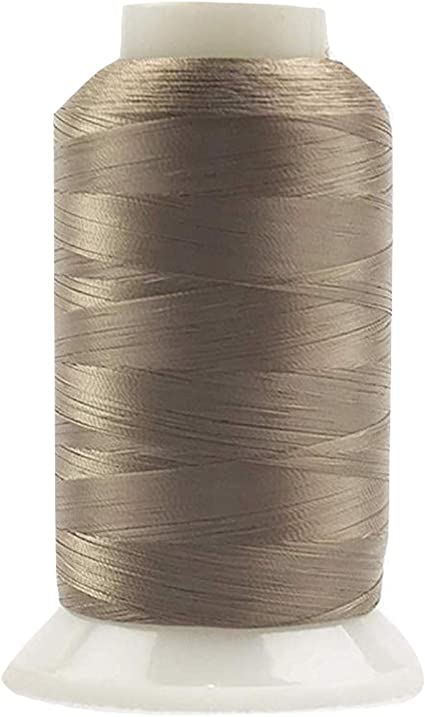 100wt InvisaFil Silk-Like Thread for Fine Sewing WonderFil Soft Tan,2500m Specialty Threads 2-Ply Cottonized Soft Polyester