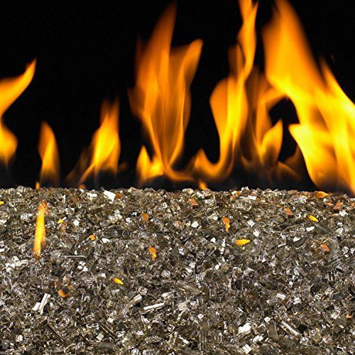 (Peterson Real Fyre 24-inch Bronze Reflective Fire Glass Set With Vented Natural Gas G45 Burner - Variable Flame Remote)