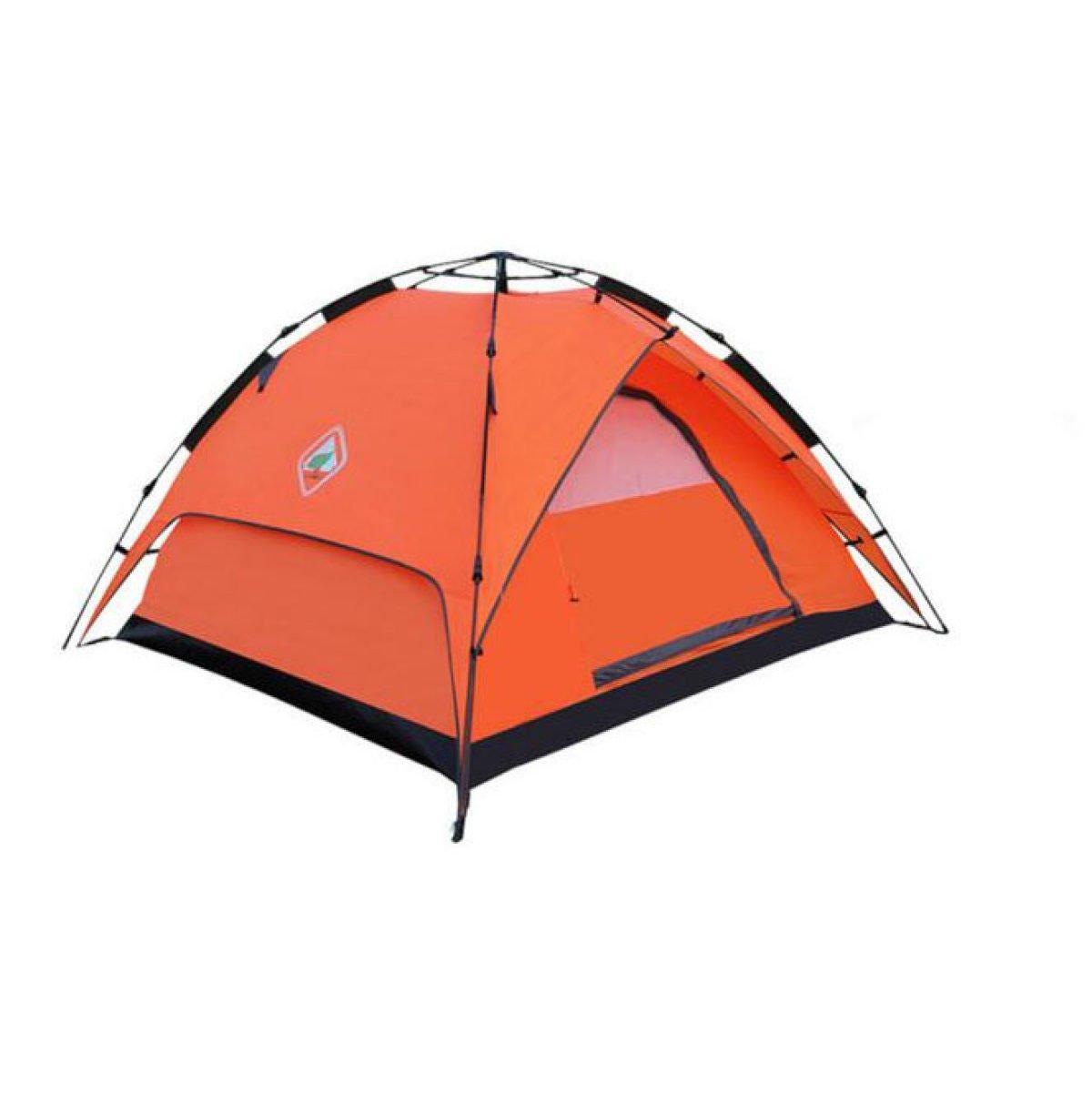 BFMEI Outdoor Automatik Doppel- Wind Regen Camping Zelt,OrangeHydraulic2WithAccount-230210130