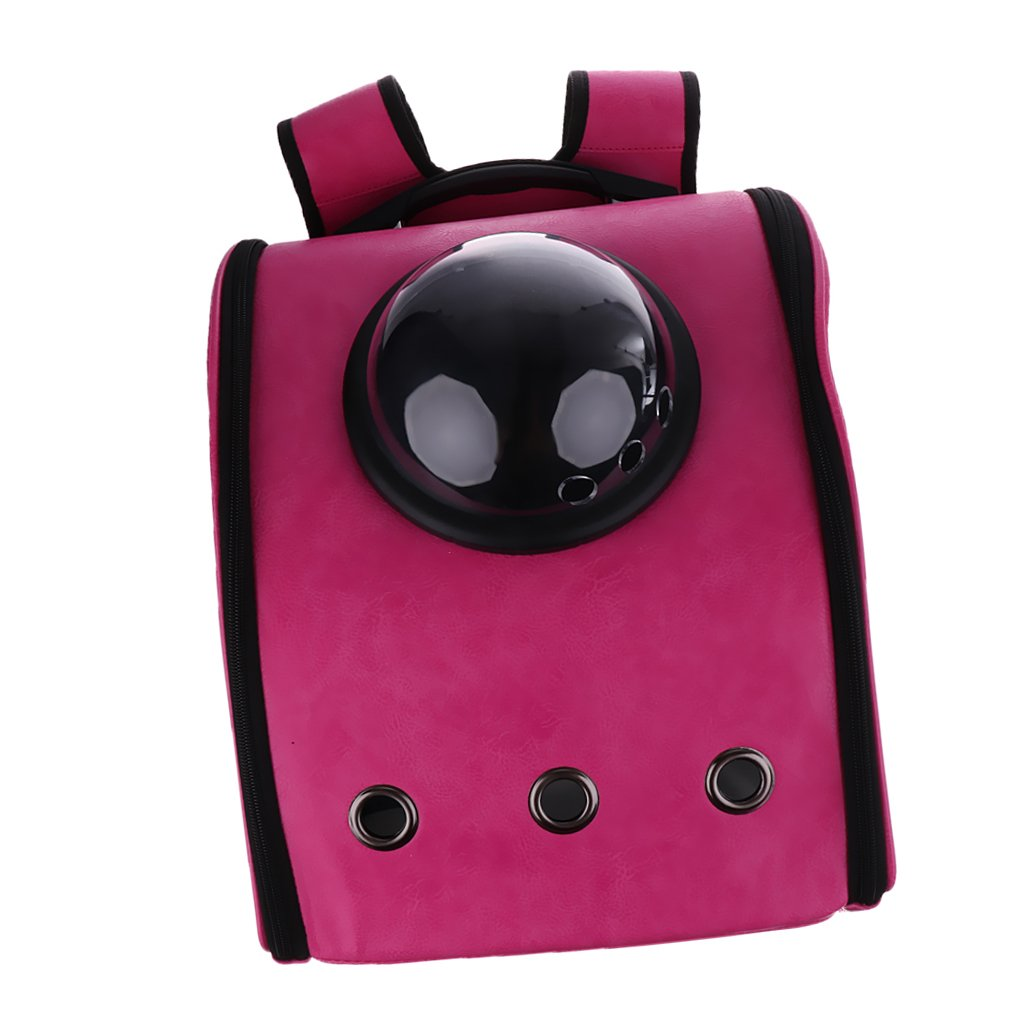 pink Red Carrier Backpack Dog Cat Travel Carrier Astronaut Capsule Shoulder Bag 4colors pink Red