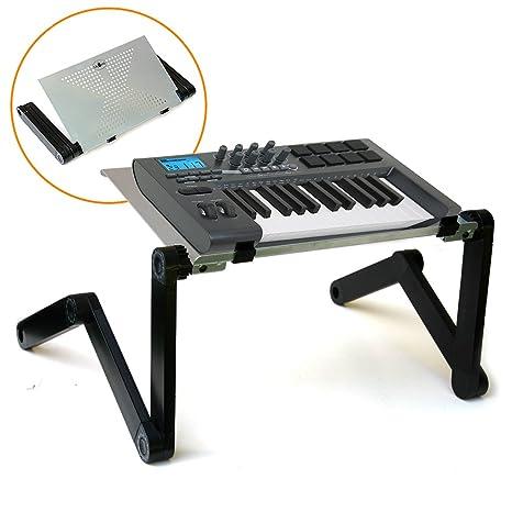 Gato Hidráulico controlador MIDI Teclado Soporte de efecto para DJ con superficie de aleación de aluminio