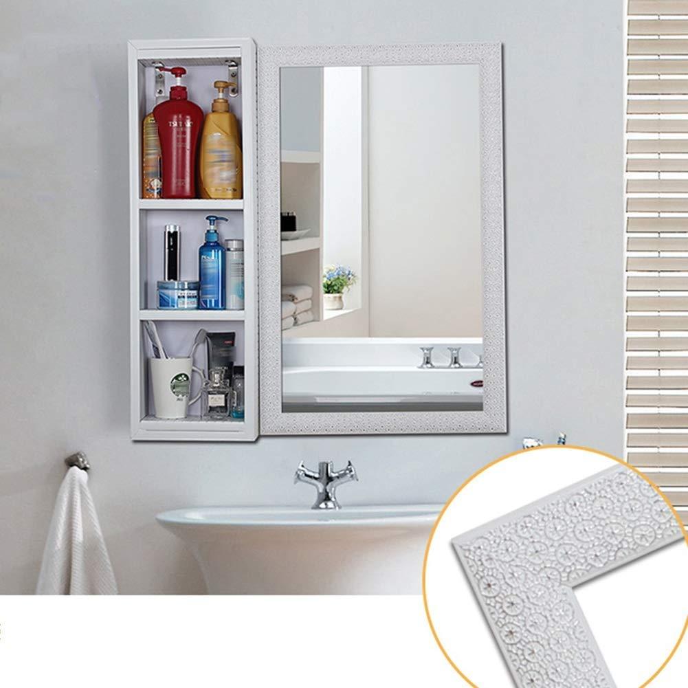 Bordo in PVC O/&YQ Bagno//Accessori da Cucina Specchio da Parete Specchio da Parete Specchio Impermeabile Specchio per WC e Toilette 6 Stili