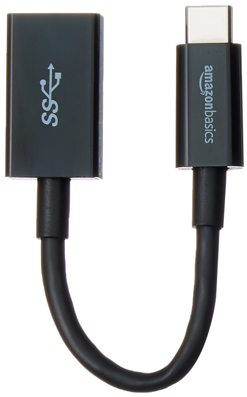 AmazonBasics USB Type-C to USB 3.1 Gen1 Female Adapter - Black